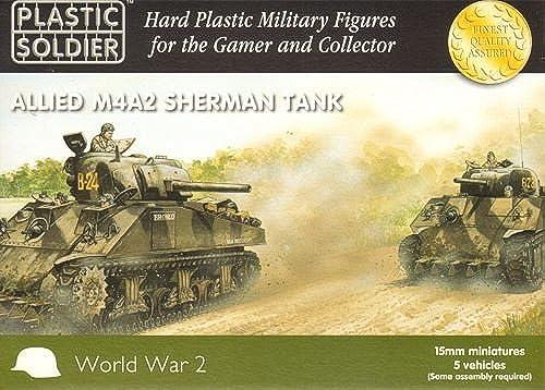 15mm WW2 Allied M4A2 Sherhomme Tank