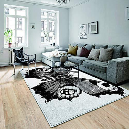 not Teppiche,Fußmatten,Blaue Farbexplosion des farbigen Pulvers auf gelbem Spritzen,Flur Fußmatten,Bodenmatte,rutschfeste,Bodenmatte,Wohnzimmer Teppich,180×210CM