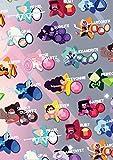 Aishangjia Steven Universe Póster De Dibujos Animados con Gemas De Cristal, Pintura Divertida Y Elegante, Adhesivo para Pared para Dormitorio, Cafetería, Bar, 50X70 Cm (19,68X27,55 In)