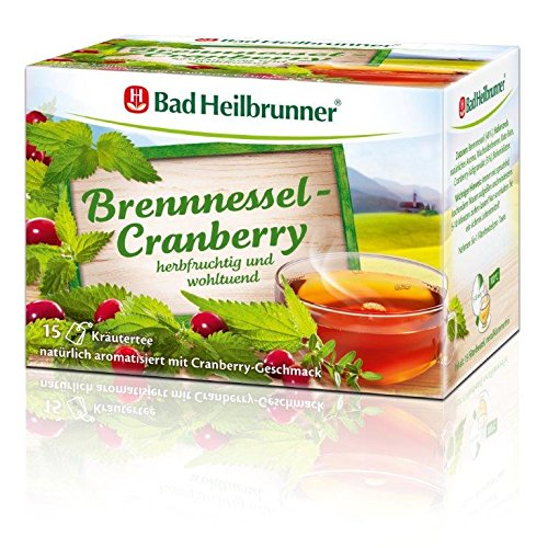 Bad Heilbrunner Brennnessel-Cranberry Tee, 15er Filterbeutel, 1er Pack (1 x 27 g)
