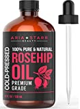 Aria Starr Rosehip Seed Oil Cold Pressed For Face, Skin, Acne Scars - 100% Pure Natural Moisturizer...