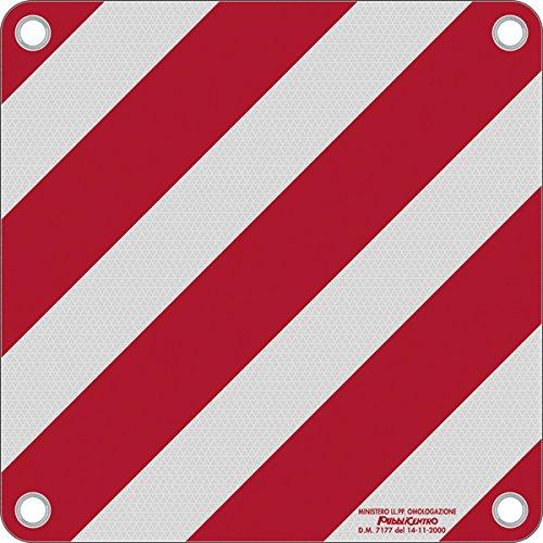 Warntafel Italien Aluminium reflektierend 500x500mm rot-weiß
