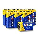PKCELL Baterías de 9 V 6F22 de batería súper resistente, piezas de batería seca a granel para juguetes de la cámara de radio (paquete de 8)