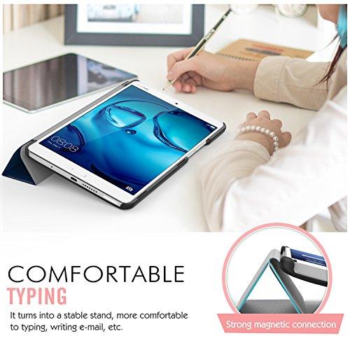 MoKo Huawei MediaPad M3 8.4 Hülle - Ultra Slim Lightweight Schutzhülle Smart Cover Standfunktion für Huawei MediaPad M3 8.4 2016 Tablet-PC perfekt geeignet, Marineblau - 3