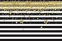 New210x150cm写真の背景ビニールブラックホワイトストライプ水玉長期的な耐久性ビデオ撮影の背景背景ウォールフェスティバル装飾背景写真屋外結婚式