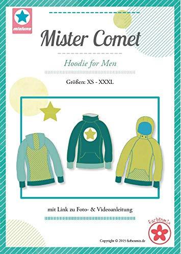 Farbenmix Mister Comet Schnittmuster (Papierschnittmuster für die Größen XS - XXXL) Männerhoodie