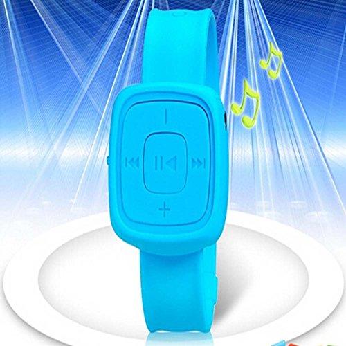 Wrist Watch Design Card Reader Mp3 Player (Blue)