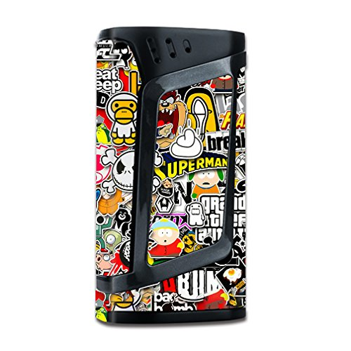 Skin Decal Vinyl Wrap for Smok Alien 220w TC Vape Mod stickers skins cover/ Sticker Slap