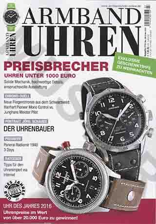 Armbanduhren Ausgabe 7/ 2015 Dez. 15/ Jan 2016: Preisrechner Uhren Unter 1.000€