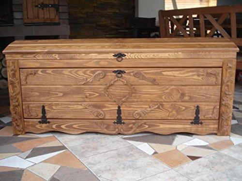 Massive Handgemachte Holzkiste Truhe Box Holz Aufbewahrung Antik Dekoration Wohnen Möbel Sitzbank Schuhschrank Kaffee Tisch KL3