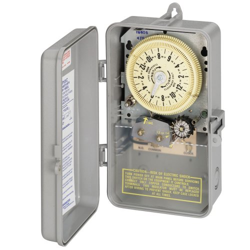 Intermatic T8805P101C SPST 125-Volt Mechanical Cycle and Irrigation Timer Switch with 14 Day Skipper and 3R Plastic Indoor/Outdoor Enclosure, Color