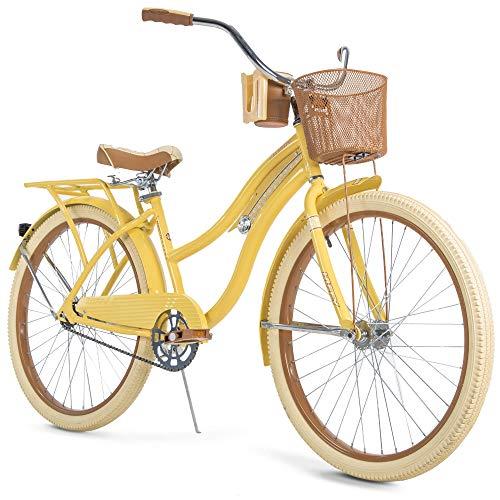 Huffy Nel Lusso Women's Classic Cruiser Bike Frame Yellow, 26