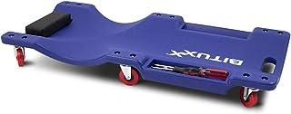 BITUXX® KFZ Rollbrett Montagerollbrett Werkstattliege Auto Montageliege Montagebrett mit 6 kugelgelagerten 360° Rollen, 2 praktischen Werkzeugablagen und gepolsterter Kopfstütze
