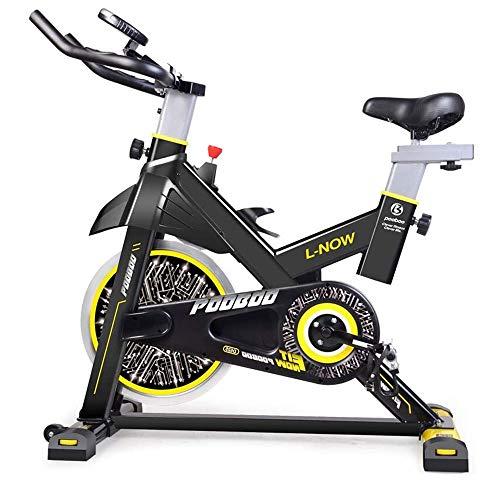WJFXJQ Spin Bike, Cyclette Cyclette Magnetica Resistenza in 8 Diverse Fasi con Manubrio Regolabile e Seat Coperta silenziosa Cyclette Trainer