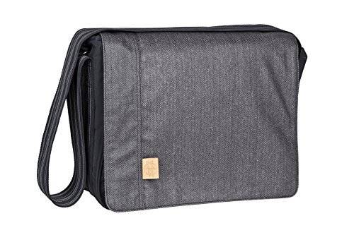 Lässig Sac à Langer Casual Messenger Bag Twill, Black