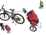 Polironeshop Geko Chariot remorque de vélo, bicyclette, pour faire ses courses, porter les bagages, pour cyclotourisme, rouge