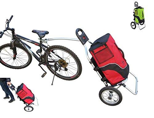 polironeshop Geko Trolley Fahrradanhänger Fahrrad Wagen Wagen-Ausgaben-Bora Gepäckträger Transport Fahrradtourismus X, rot