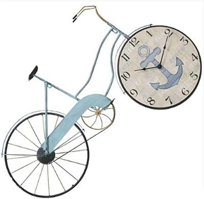 Wall clock Reloj de Pared de la Bicicleta Azul Sala de Estar ...