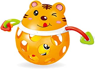 Anniston Kids Toys, Cartoon Animal Soft Baby Rattle Ball Hand Grip Bell Developmental Teething Toy Baby Toys Perfect Fun T...