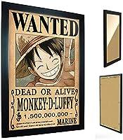 Quadro C/Moldura One Piece - Cartaz de Procurado Luffy