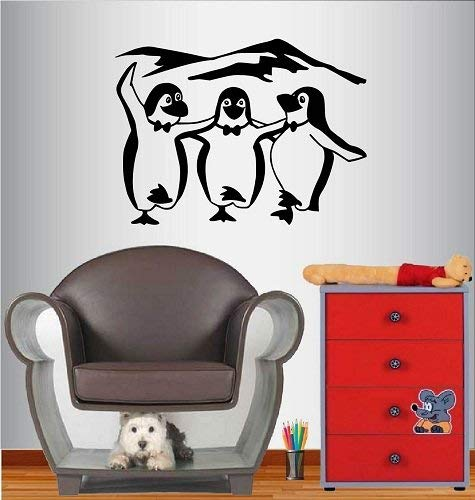 Lplpol muur Vinyl Decal Home Decor Art Sticker Grappig Dansende Pinguïns Vogels Kinderen Kinderen Kinderkamer Speelkamer Verwijderbare Stijlvolle Mural Uniek Ontwerp