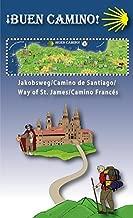 Erlebniskarte Buen Camino - Für alle Jakobsweg-Begeisterte. Oder die, die es werden wollen: Infomappe mit gefalzter Karte