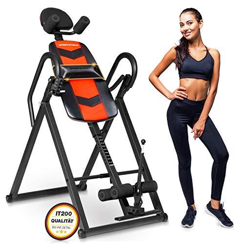 Sportstech Inversionsbank für Fitness und Rücken-Massage | Inversion Table Rücken- & Bauchtrainer für Zuhause | Heimtrainer klappbar bis 120 kg |Smart Trainer für Ihr Homeworkout Equipment |IT200