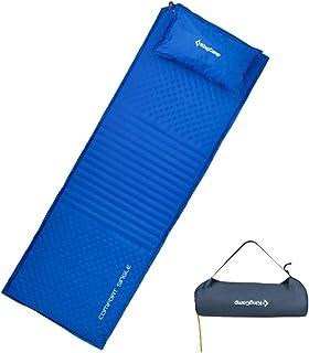 KingCamp エアーマット エアーベッド キャンプ マット 自動膨張 キャンピング テント 連結可能 ダブル に対応 エアマット 簡便 厚手 4cm 防寒 枕付き KM3605