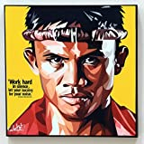 Buakaw Banchamek Sport Poster POP Art Canvas Quotes Wall Decals Framed