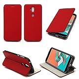 Etui Asus Zenfone 5 LITE rouge (ZC600KL) Ultra Slim Cuir Style avec stand - Housse coque de protection Asus ZenFone 5 Light...