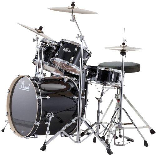 Pearl Export EXX725Z/C31 Black + Zildjian Planet Z Becken Set + Hocker GRATIS