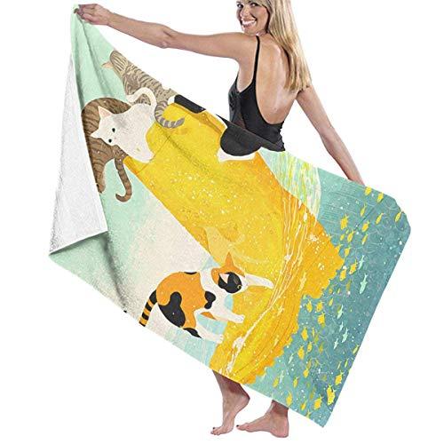 AGSIGGS Badetuch Set 3D Tierdruck Waschlappen Badezimmer sehr saugfähig Extra großes Badetuch Strand Reise Badewanne Schnell Trocknen Pool Gym Handtücher Set