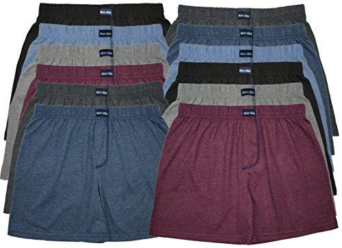 MioRalini TOPANGEBOT Boxershorts farbig weich & locker in neutralen Farben klassischen Unifarben Herren Boxershort, 12 Stück Ohne Eingriff 01, XXXXL-10