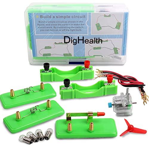 DigHealth Kit Circuito Eléctrico, Juguetes Educativos, Kit Ciencia para Niños, Kit de Experimentación Física para Aprendizaje Básico de Circuitos