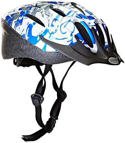 Ventura Casco bicicletta, Bianco (white/blue/silver), M