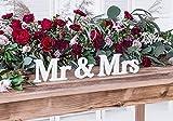 P&D MR & MRS Weiss Buchstaben XL Schriftzug Tischdeko Hochzeitsdeko Aufsteller Tischschmuck Zeichen...
