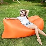 HNFGH Outdoor Garden Sofas Faule Tasche Aufblasbare Luft Sofa Strandbett Liegestasche Schlaf faul...