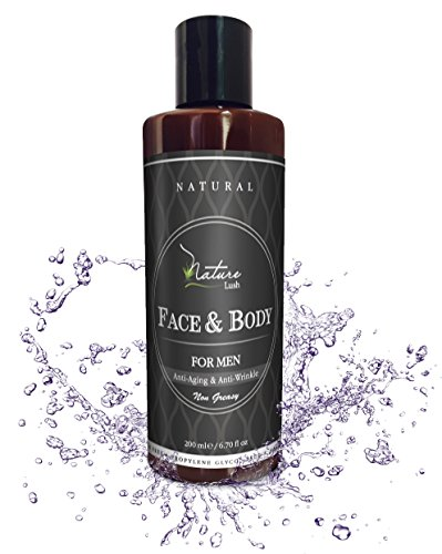 Best Natural & Organic Aftershave and Body Cream for Men. Provides Anti-Aging & Sun Safety. Vitamins B5, Vitamin E & Wheat Proteins – Sulfate & Parabens Free 6.7 fl oz - by Nature Lush
