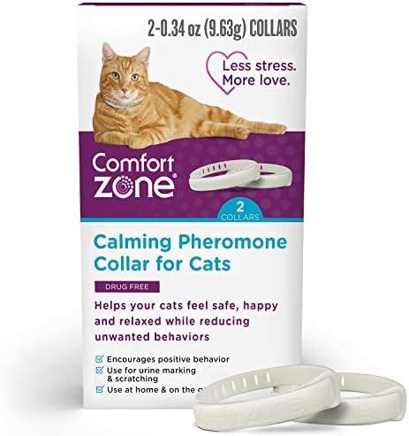 Comfort Zone Cat Calming Pheromone Collar Anxiety Stress Relief Aid Breakaway Design Grey 2 product image