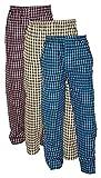 Worivo Men's Cotton Checkered Pajama (Pack of 3) (6I-TPCI-4798 Multi Color Medium)