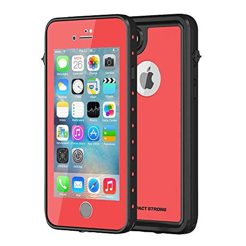 ImpactStrong iPhone 7 / iPhone 8 Waterproof Case [Fingerprint ID Compatible] Slim Full Body Protection for Apple iPhone 7 and iPhone 8 (4.7 inch) - Red