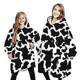 NXYJD Manta de Gran tamaño Hoodies Mujeres Winter Fleece Sudaderas Gigante de TV de Gran tamaño con Las Mangas suéter con Capucha del suéter de Las Mujeres
