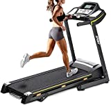 Ammethod Treadmills for Home 300 lbs Weight Capacity Electric Folding Auto Running Machine Digital Quick Speed Control Function Large LCD Display Cup Holder