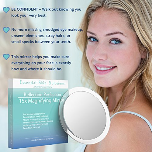 10. Essential Skin Solutions' 15X Magnifying Mirror