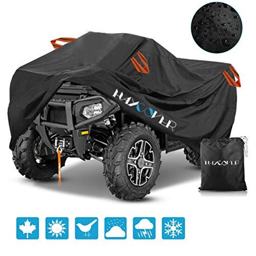 Cubierta para ATV impermeable, al aire libre, impermeable, protección UV 210D, color negro, L 200 x 95 x 106 cm