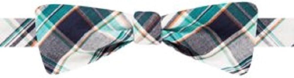 Countess Mara Shirting Plaid Untied Bow Tie, Green Plaid