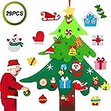 Legendog Felt Christmas Tree, Felt Christmas Tree for Toddlers Wall Felt Christmas Tree 3D DIY Xmas Decorations with 29pcs Ornaments,Wall Hanging Christmas Tree Decorations for Kids Xmas Gifts