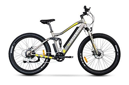"""Argento Performance PRO Mountain Bike, Bici Elettrica Unisex – Adulto, Assicurazione AXA """"Tutela Famiglia"""" inclusa, Giallo, Telaio da 46 cm"""