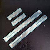 4Pcs Auto Stainless Steel External Door Sills, for Renault Megane 2010-2018 Welcome Pedal Kick Plates Scuff Threshold Bar, Protective Decorate Foot Tread Stickers Strips