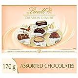 lindt creation dessert gift box, fine milk, dark and white chocolate, 170g
